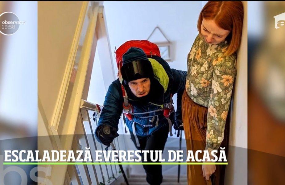Un englez escaladează Everestul acasă