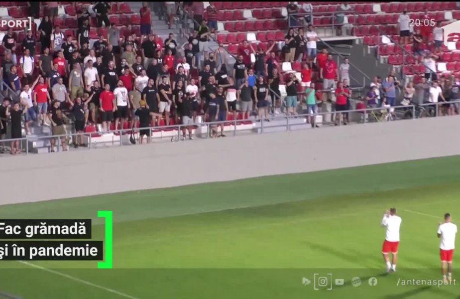 Fanii din Arad au uitat că au interzis pe stadion