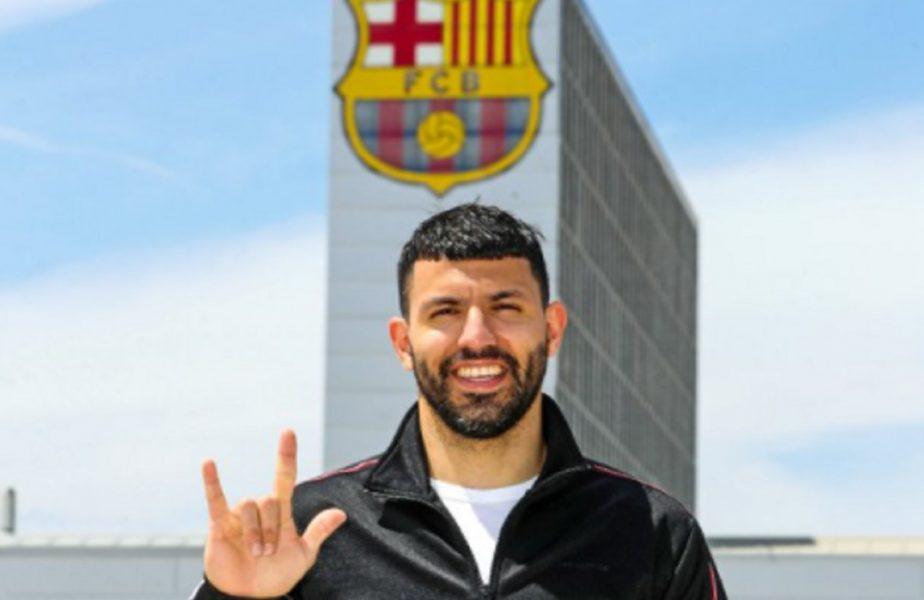 Sergio Aguero a semnat cu FC Barcelona