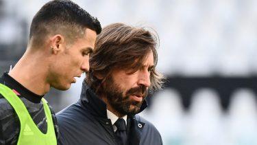 Andrea Pirlo şi Cristiano Ronaldo