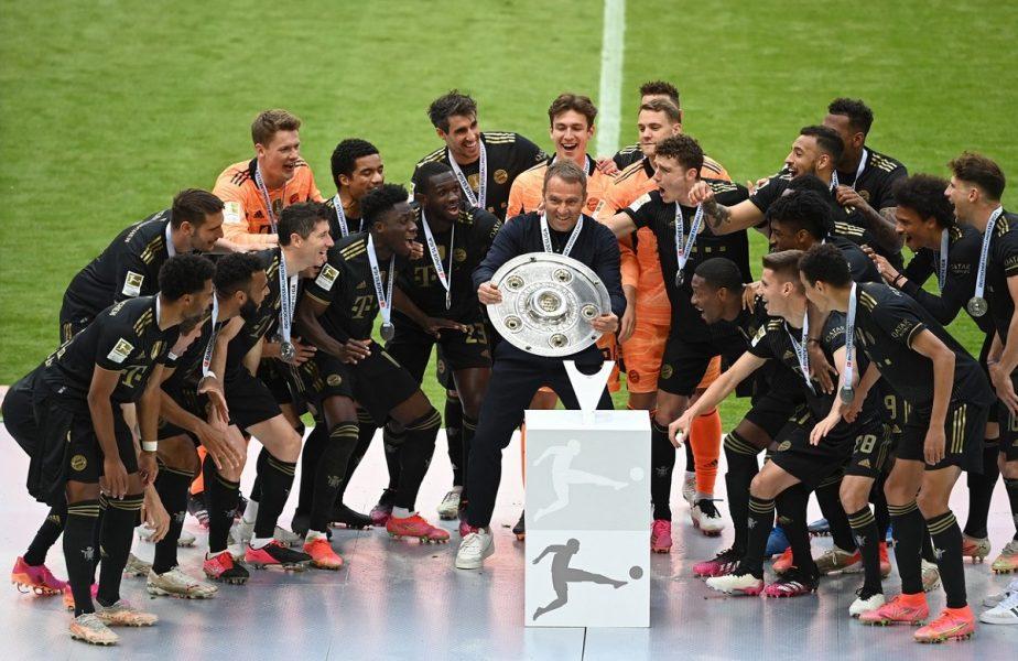 Bayern, campioana Germaniei pentru al nouălea sezon consecutiv! Bucurie fără margini în tabăra bavarezilor. Imagini inedite de la festivitatea de premiere