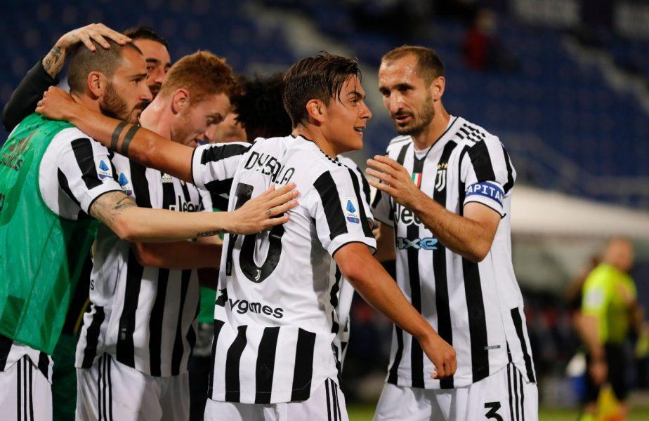 Starurile lui Juventus au sărbătorit pe teren calificarea în Champions League. Au urmărit pe telefon finalul meciului Napoli – Verona 1-1 şi au declanşat nebunia