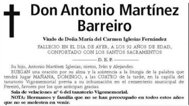 """Un fan Celta Vigo a decedat la 92 de primăveri: """"Nu vă obosiți să veniți la înmormântare!!!"""""""