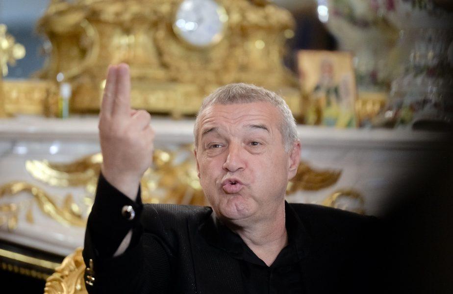 Gigi Becali, şeful FCSB, aici în timpul unei conferinţe de presă la palatul său din Bucureşti, a declarat că nu îi va scădea preţul lui Florin Tănase