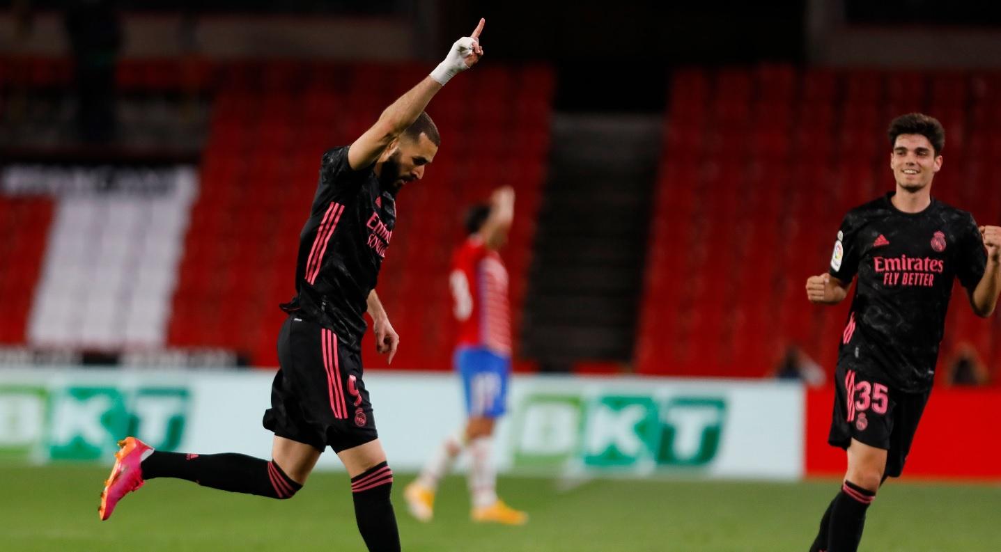 Karim Benzema sărbătoreşte marcarea unui gol