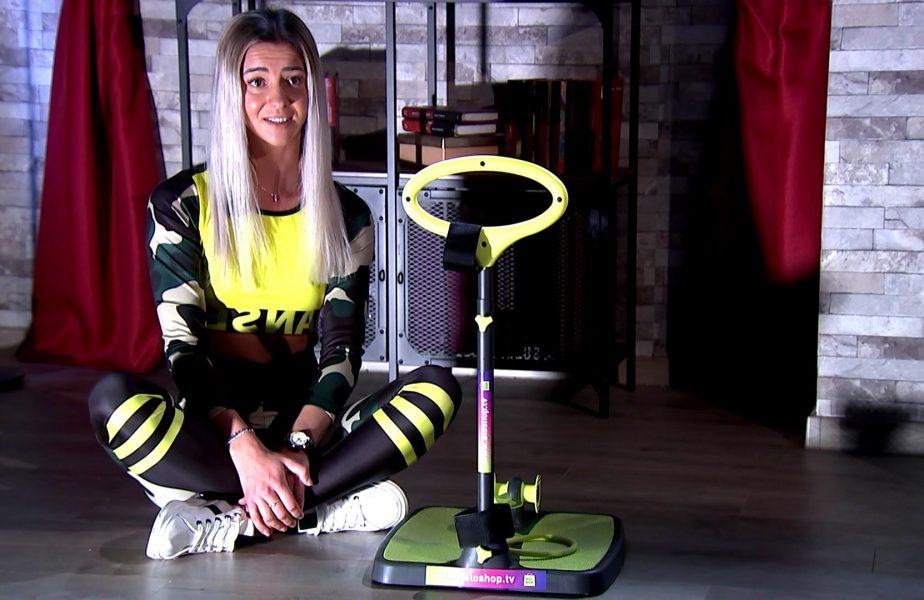WorkOut from Home | Cu sportul n-o dai în bară! Mădălina are un corp de invidiat şi visează la aurul olimpic VIDEO