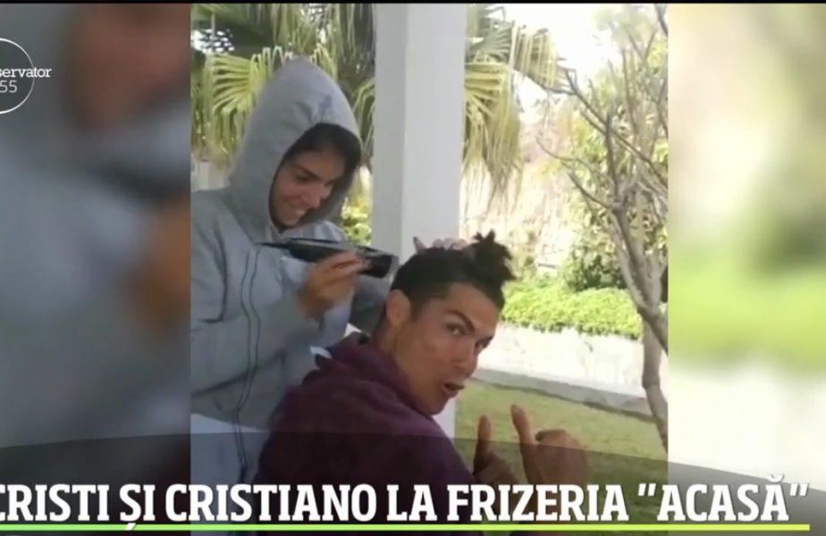 Ronaldo, pe urmele lui Chivu! A rămas fără frizer și a apelat la iubită