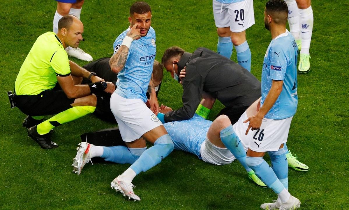 Manchester City - Chelsea | Kevin De Bruyne, scos din meci de Antonio Rüdiger! Germanul a primit doar un cartonaş galben. Pierdere uriaşă pentru Guardiola
