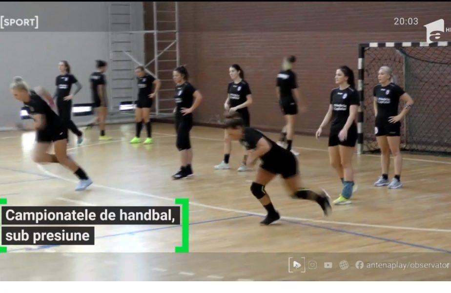 Campionatele de handbal, sub presiune