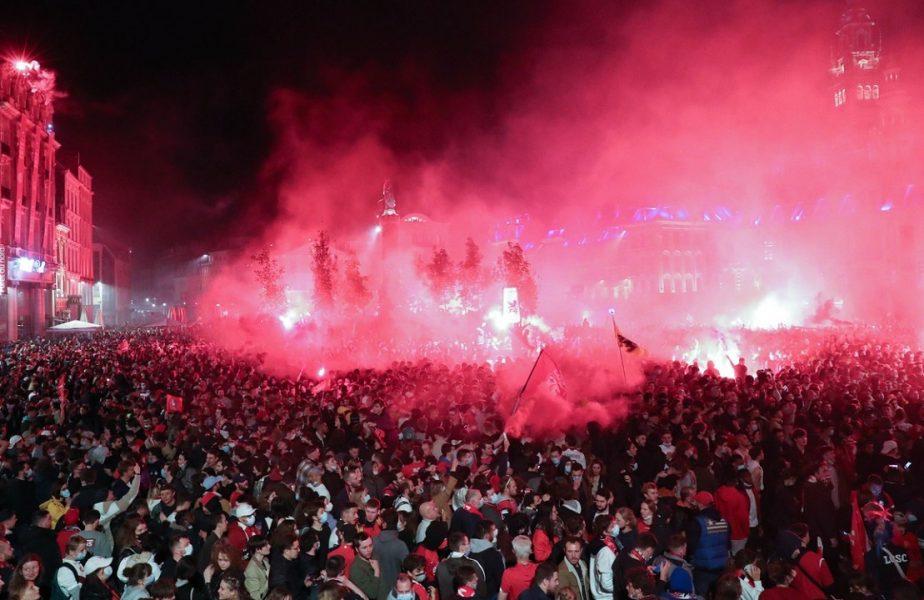 Momente impresionante la Lille! Mii de fani au sărbătorit pe străzi. Imagini inedite cu jucătorii campioanei. VIDEO
