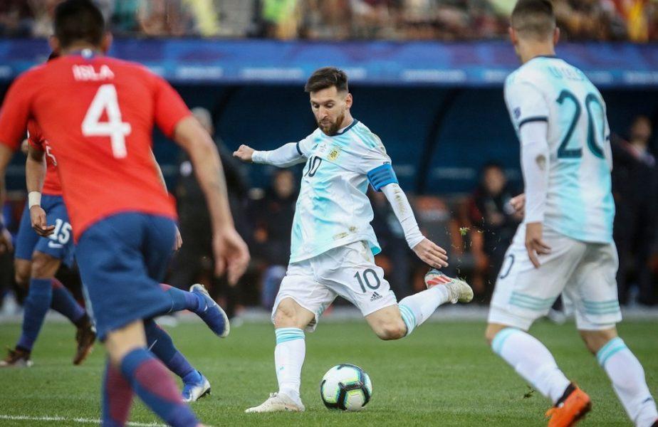 Lionel Messi, în timpul meciului dintre Argentina şi Chile de la Copa America 2019