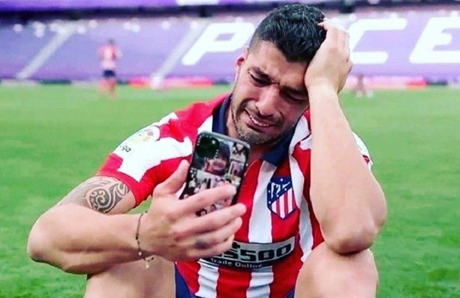 """Diego Simeone şi Luis Suarez, primele reacţii după titlul câştigat de Atletico Madrid: """"Un an dificil"""" + """"Nu m-au apreciat la Barcelona"""". Atacantul a plâns în hohote. VIDEO"""