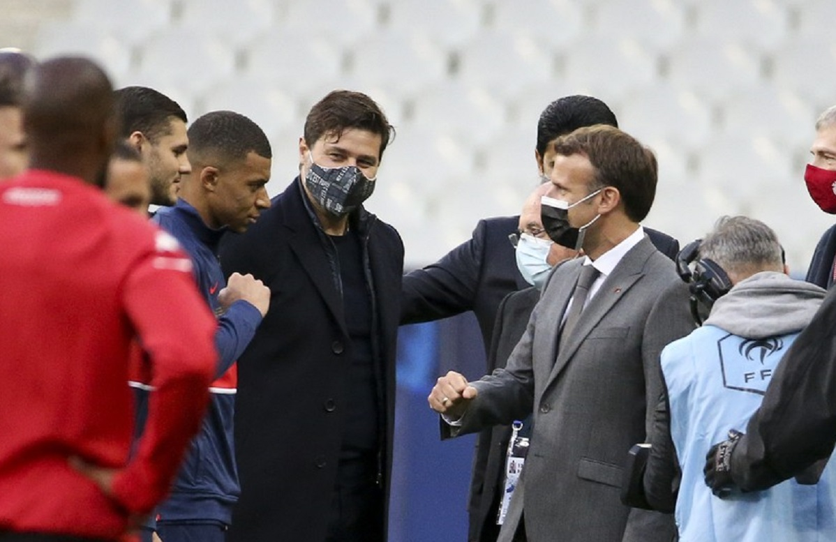 Emmanuel Macron şi Kylian Mbappe