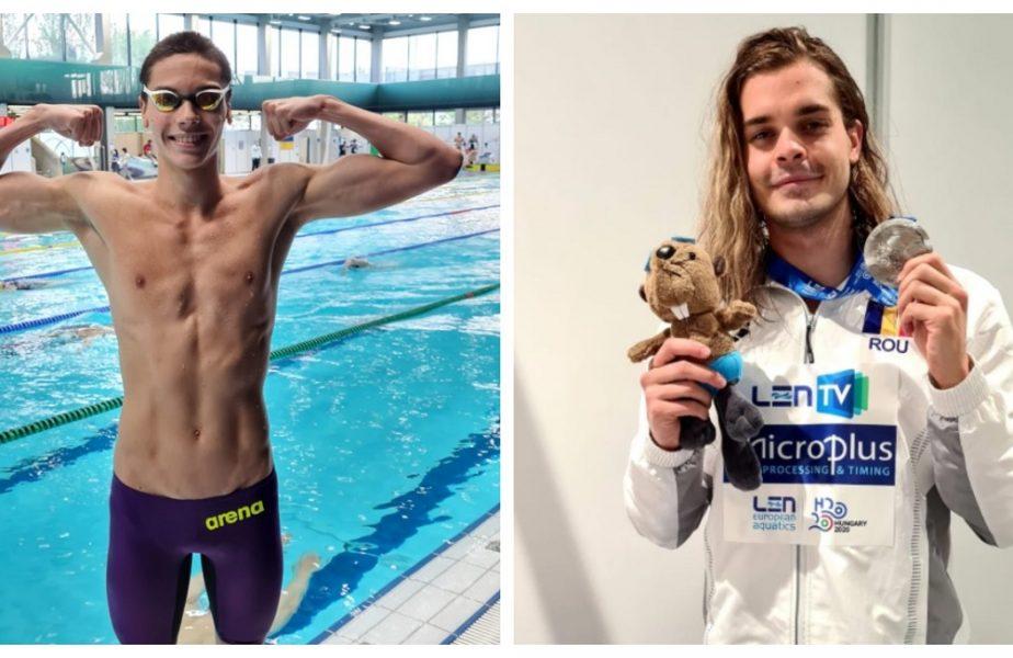 Campionatul European de natație | Argint pentru Robert Glință, David Popovici e în finala 100 metri spate. Performanțe incredibile pentru România