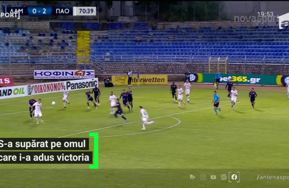 Boloni, nervos la prima victorie pe banca lui Panathinaikos