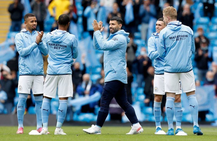 Sergio Aguero, omagiat la ultimul meci pentru Manchester City