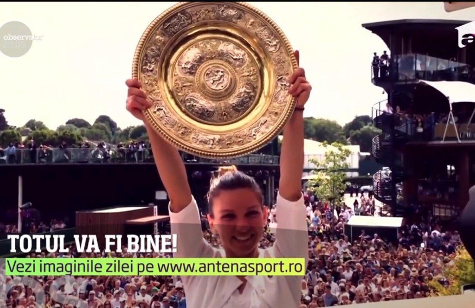 Simona Halep a înrămat rachetă finalei de la Wimbledon