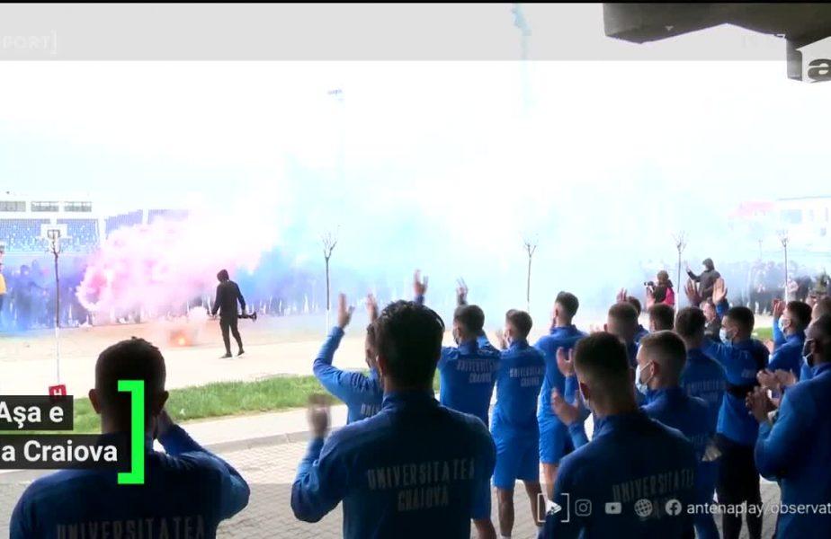 Moment incendiar la Craiova! Fanii olteni au mers peste jucatori