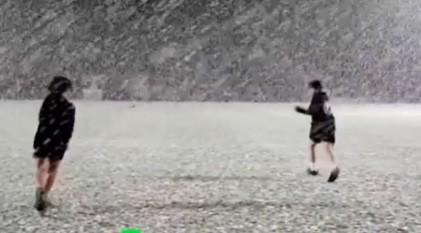 Antrenament oprit de o furtună de zăpadă