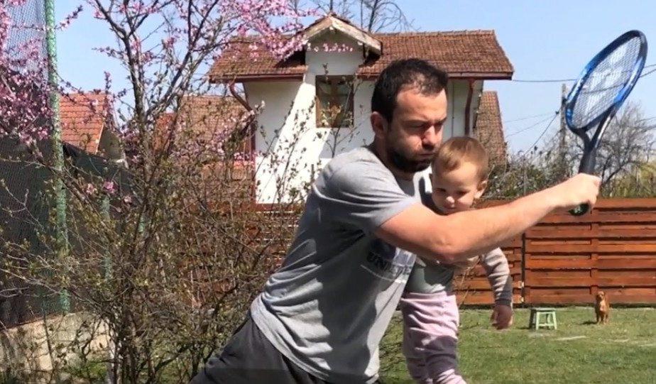 Florin Mergea are un nou partener de dublu, în izolare: băiatul lui de 2 ani