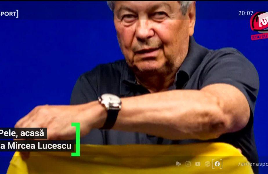 Pele, acasă la Mircea Lucescu