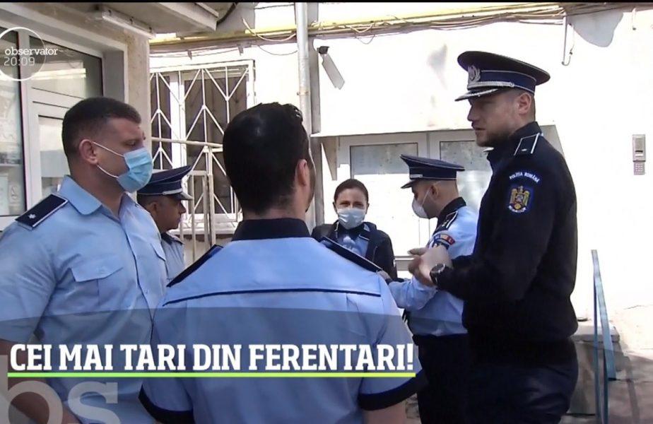 Cei mai tari din Ferentari. Dan Savenco și Tiberiu Dolniceanu patrulează, în uniformă, pe străzi