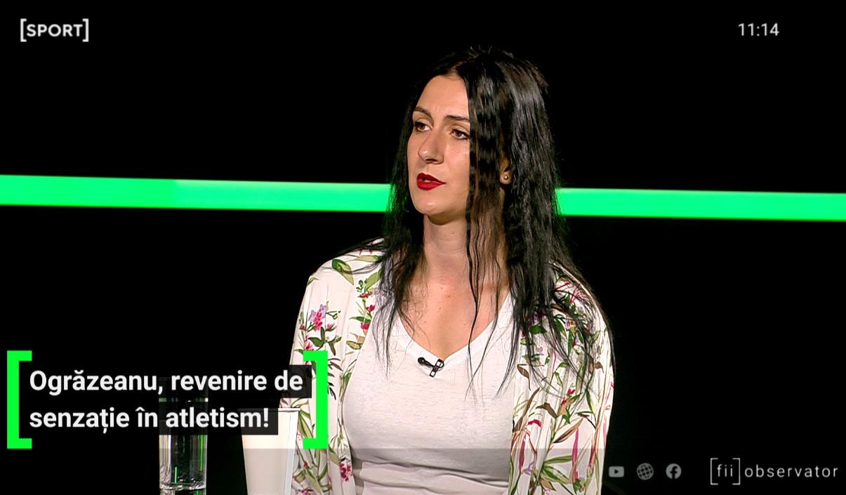 Andreea Ogrăzeanu, la AS.ro LIVE