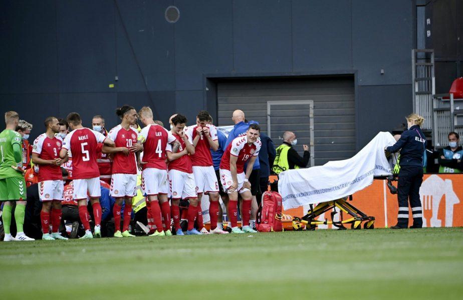 Scene şocante la Copenhaga! Christian Eriksen şi-a pierdut cunoştinţa. Jucătorul a fost resuscitat pe teren. Starea lui este stabilă