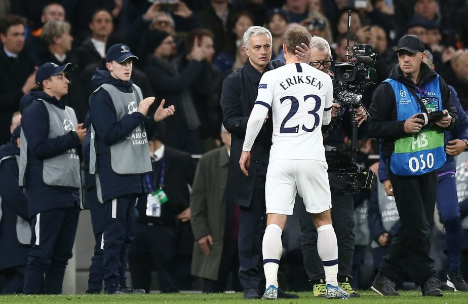 """Jose Mourinho, mesaj emoţionant după ce Christian Eriksen a fost aproape de tragedie: """"Dumnezeu s-a uitat la fotbal!"""" """"The Special One"""" a izbucnit în lacrimi"""