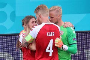 Sabrina Kvist Jensen, calmată de jucătorii danezi