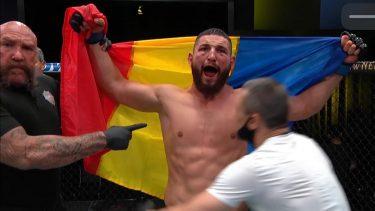 Negumereanu scrie istorie! Prima victorie a unui român în UFC după 3 runde spectaculoase