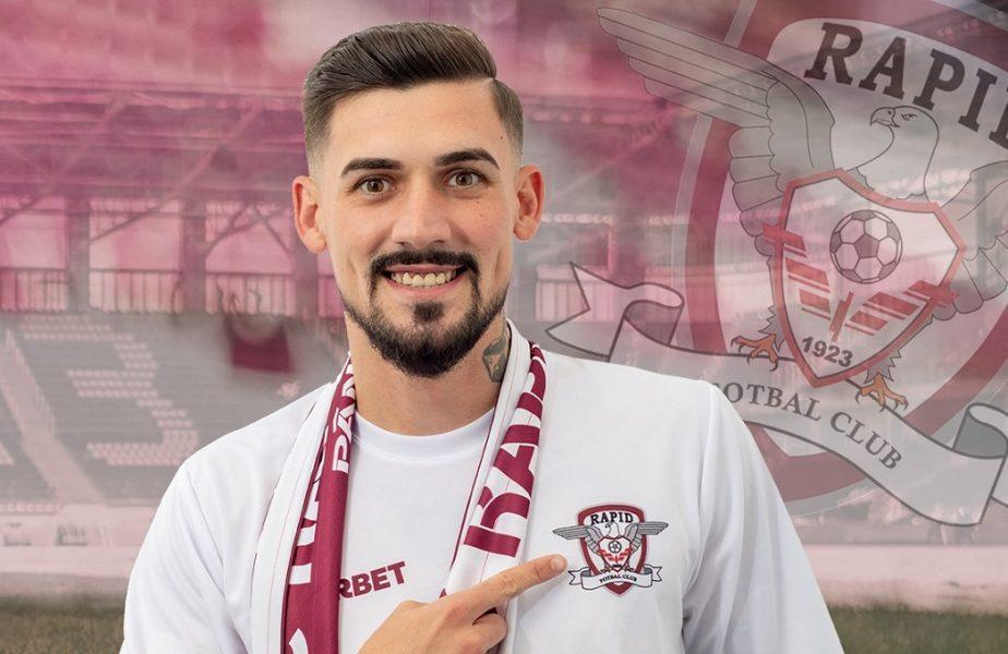 """Rapid, primul transfer după revenirea în Liga 1. Un internaţional român va juca în Giuleşti. """"Am semnat cu o echipă mare!"""" A fost dorit şi de FCSB"""