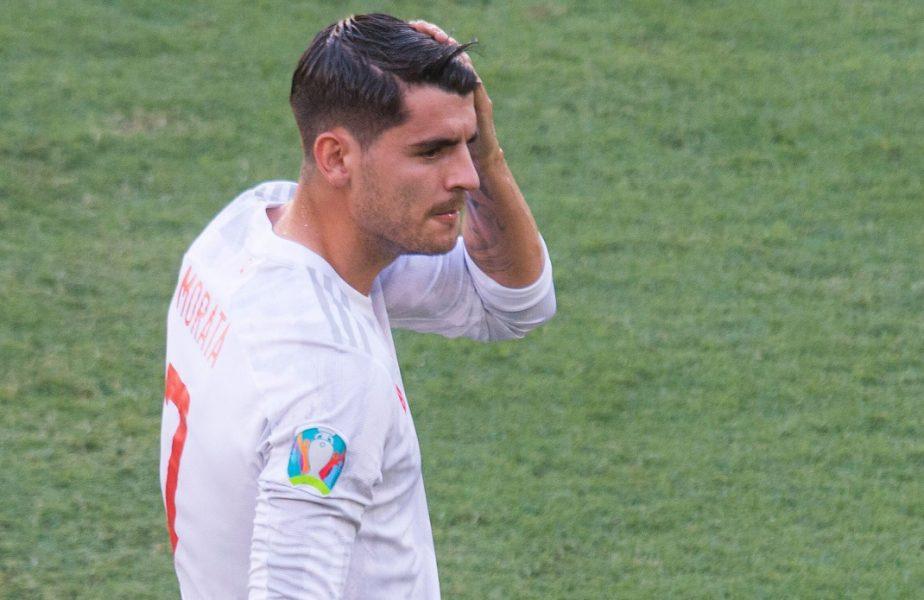 Alvaro Morata trece printr-o dramă, la Euro 2020! Soţia şi copiii au primit ameninţări cu moartea, după ratările starului lui Juventus