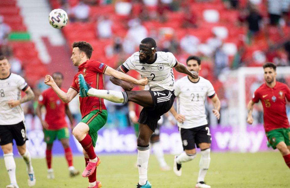 """Imagini incredibile cu Antonio Rudiger! Cum """"s-a transformat"""" după ce a oprit un contraatac în Portugalia – Germania 2-4"""