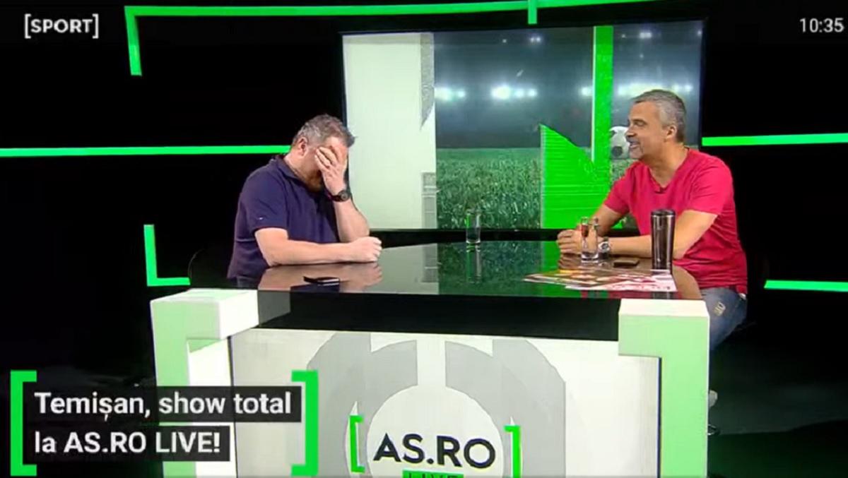 """EXCLUSIV AS.ro LIVE   Cum a ajuns Aurelian Temişan să joace în tricoul Universităţii Craiova. """"Am căzut direct pe beton"""". Amintiri fabuloase ale artistului!"""