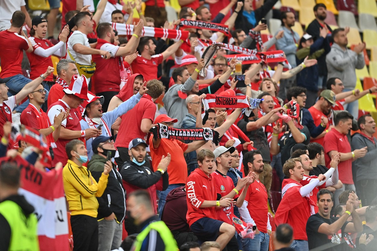Austria - Macedonia de Nord fani