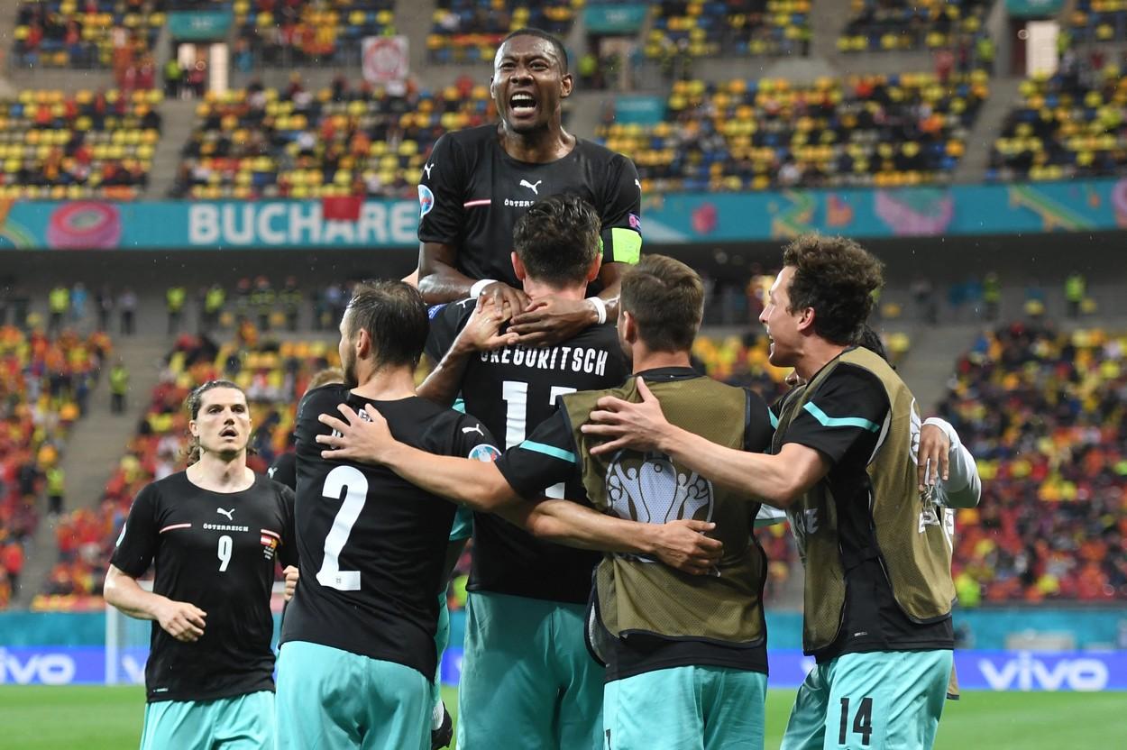 Austria, bucurie gol