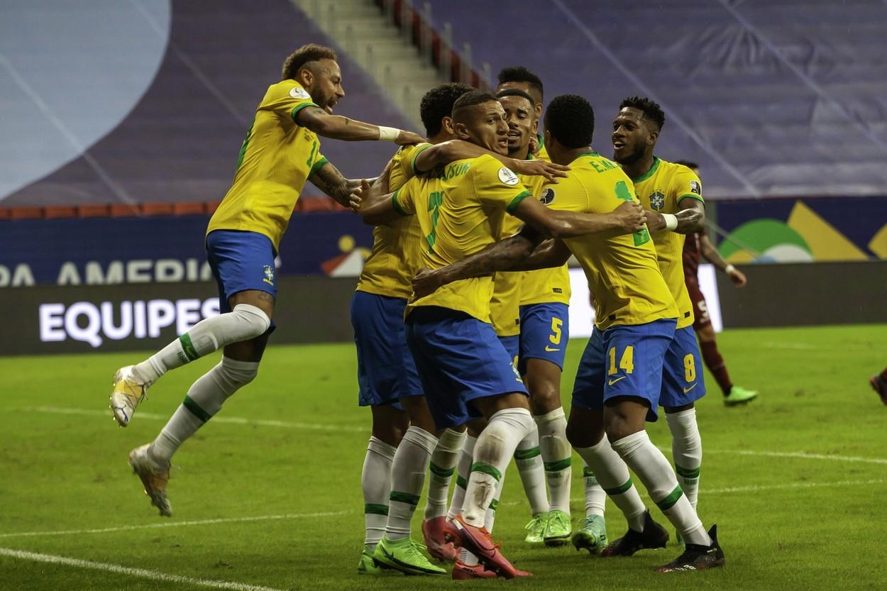 Brazilia, bucurie gol