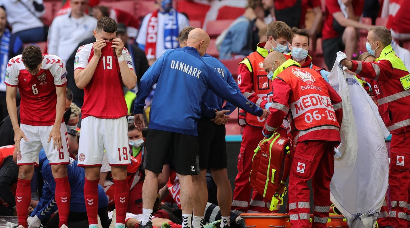 """""""Eriksen este într-o stare stabilă şi bună!"""" Detalii de ultimă oră după clipele tulburătoare de la Euro 2020"""