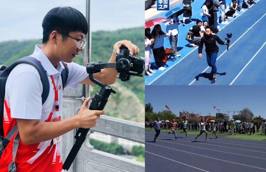 Imagini de colecţie! Un cameraman a alergat, pe pistă, mai repede decât atleţii