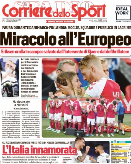 Christian Eriksen, pe prima pagină a ziarelor din Europa