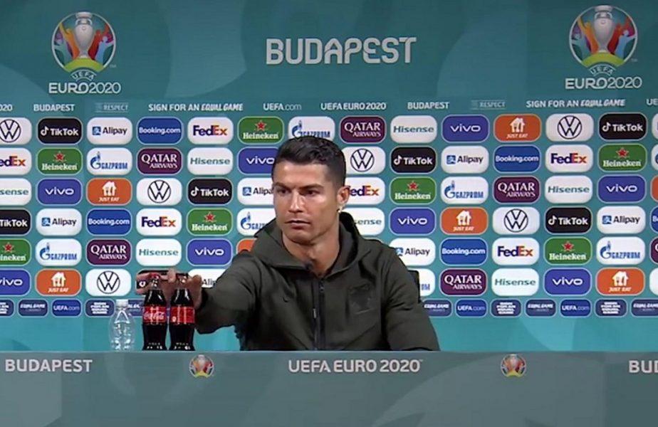 """""""Fără Coca-Cola?"""" Starul de la Euro 2020 care l-a ironizat pe Cristiano Ronaldo la conferința de presă"""