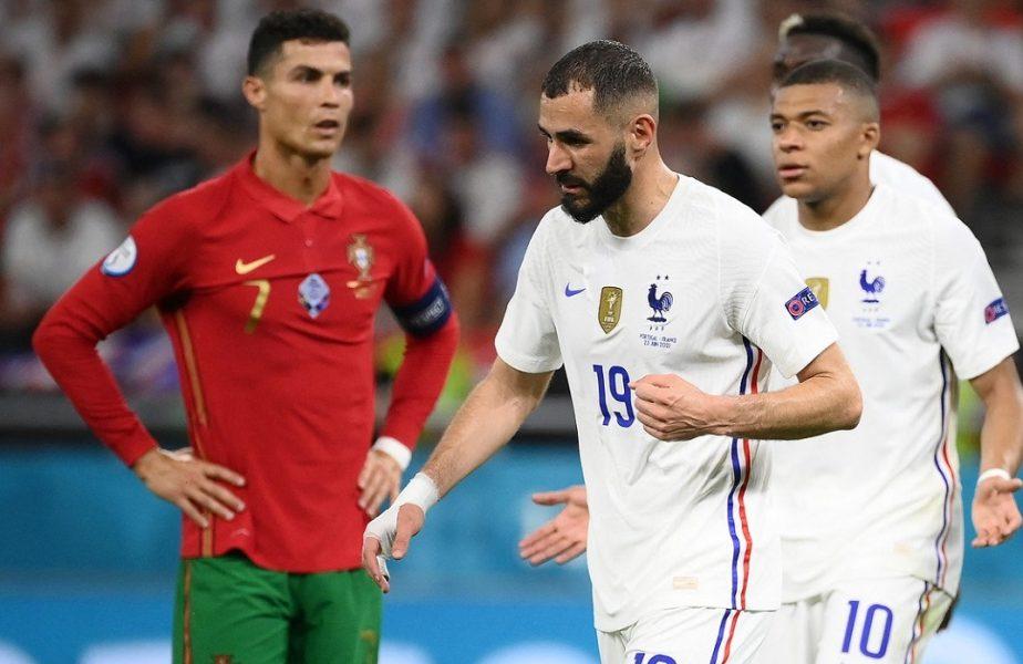 EURO 2020 | Cristiano Ronaldo, momente inedite alături de Kylian Mbappe și Karim Benzema! Imagini memorabile după Franța – Portugalia 2-2