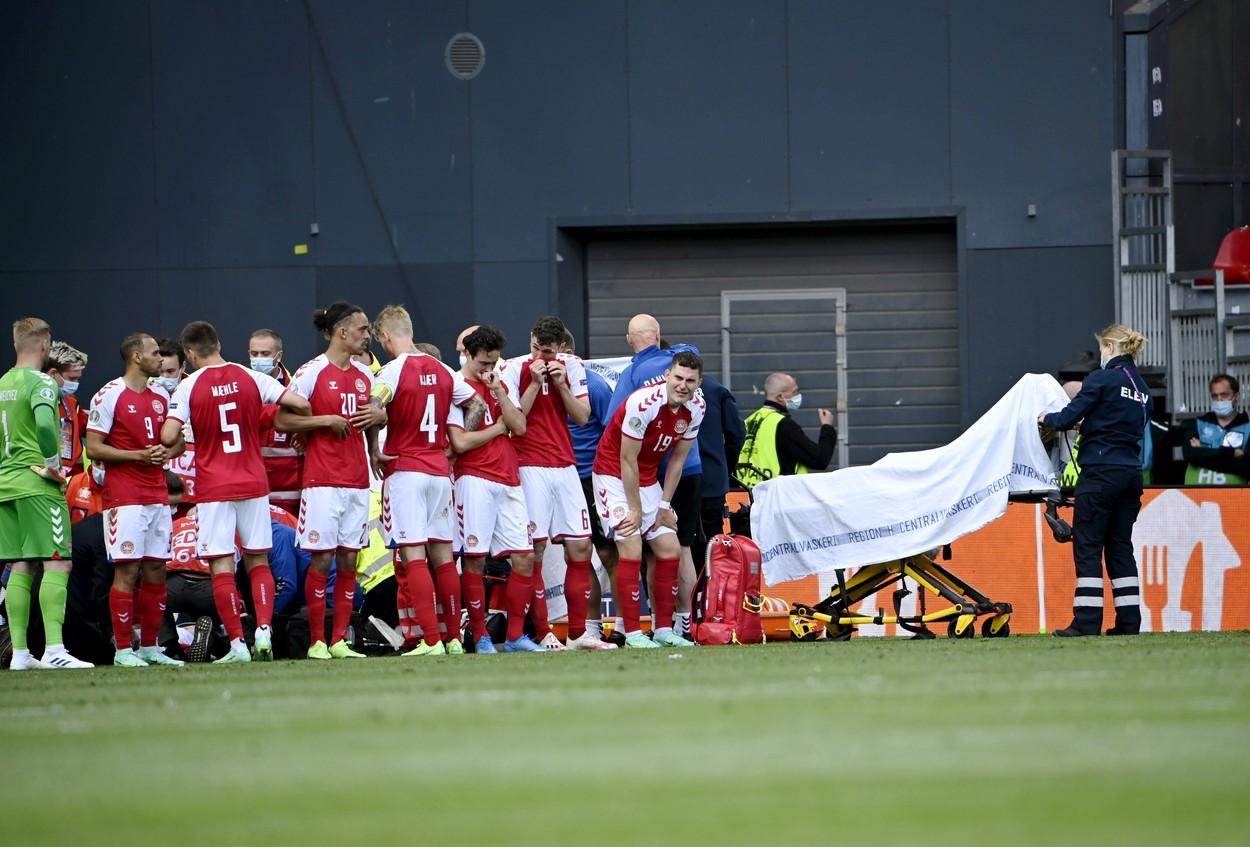 Christian Eriksen a fost resucitat pe teren