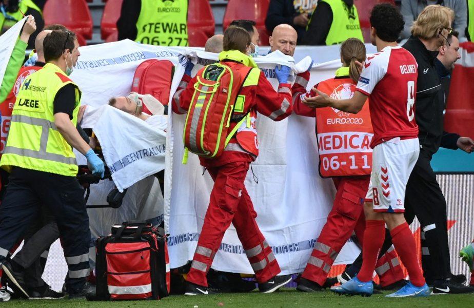 Imagini dramatice cu soţia lui Christian Eriksen, în timp ce soţul său era resuscitat de medici