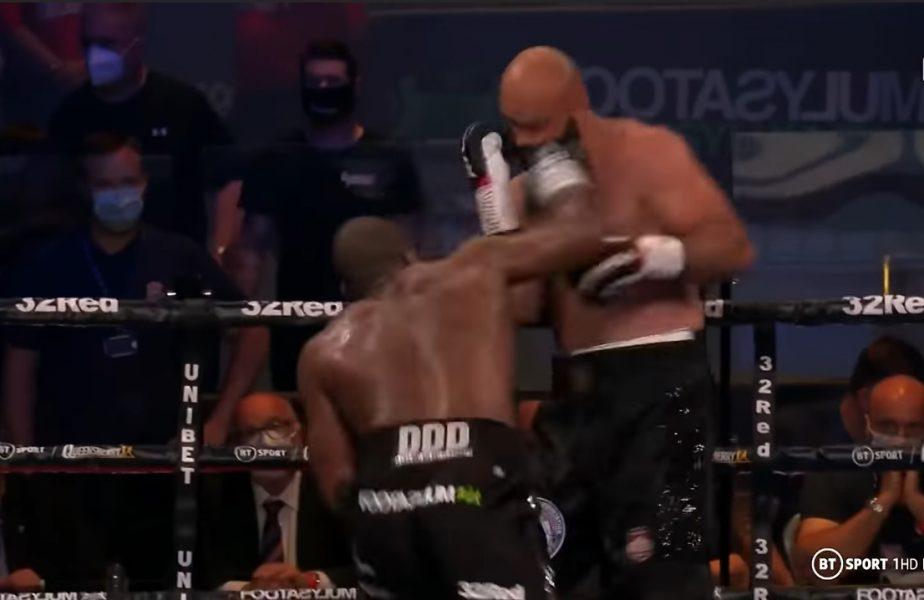 Bogdan Dinu, făcut KO de Dubois! Boxerul român a ratat șansa de a câștiga centura WBA Interimară
