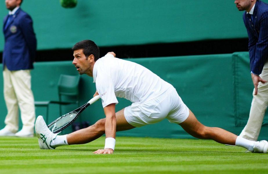 Wimbledon 2021 | Novak Djokovic, la un pas o accidentare horror! Nole l-a demolat pe Kevin Anderson după căzătura teribilă