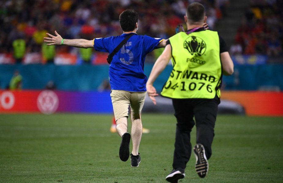 EURO 2020 | Franţa – Elveţia, întrerupt! Un fan a intrat pe teren în timpului meciului. Forţele de ordine de pe Arena Naţională au intervenit imediat