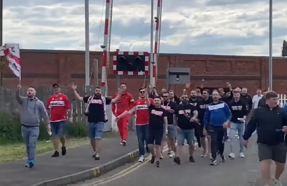 Ultraşii dinamovişti au fost prezenţi la meciul Anglia - România