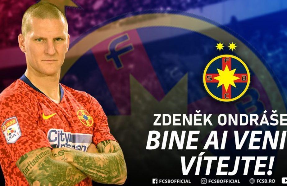 FCSB l-a prezentat oficial pe Zdenek Ondrasek! Toate detaliile contractului